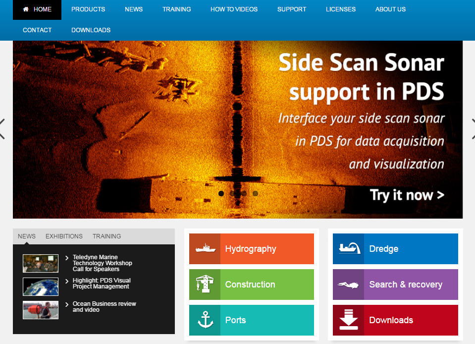PDS now supports Edgetech Sidescan Sonars