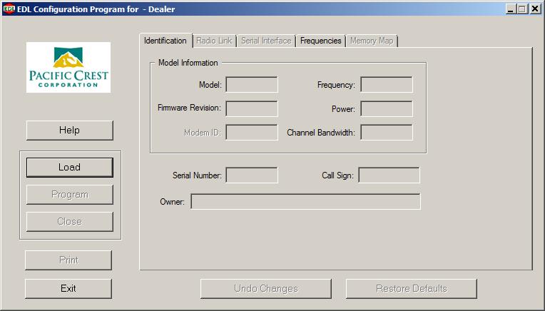 EDL Configuration Program (Dealer Version)