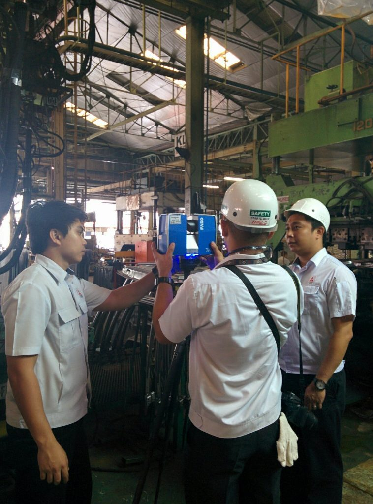 Mitsubishi Motors Philippines' engineers operating their new Faro X330 while on training