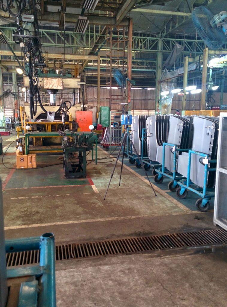 Faro X330 scanning Mitsubishi plant
