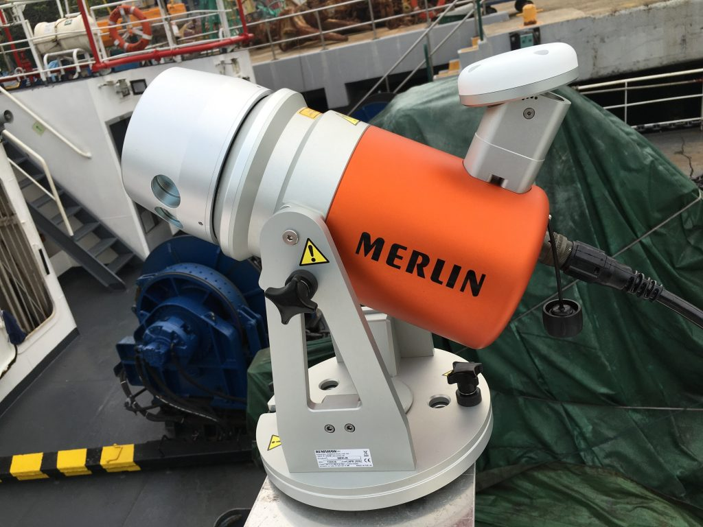 Merlin mobile LiDAR installed on MPA Investigator