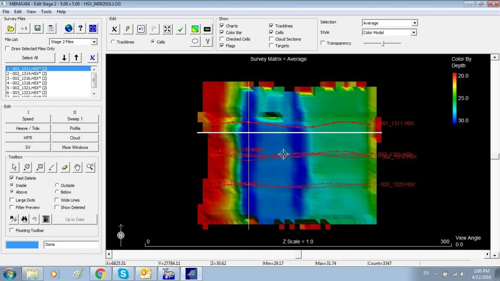 Issue resolved ► Multibeam data on Hypack MBMAX64 after patch test