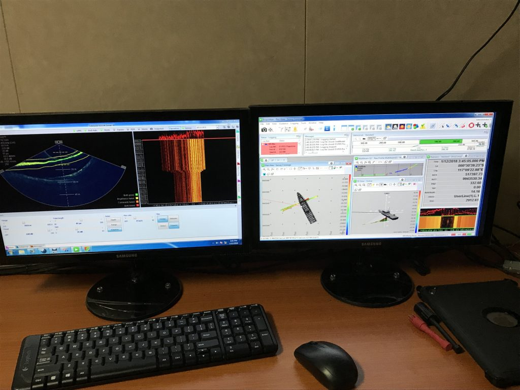 Sonar UI & Teledyne PDS onboard KN Miang Besar