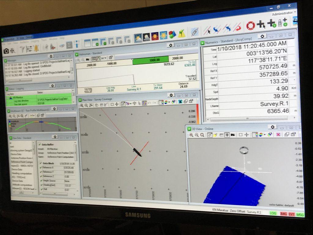 Teledyne PDS onboard KN Maratua